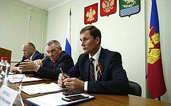 В. Бекетов принял участие впервом выездном заседании рабочей группы поразвитию сельхозкооперативов наКубани