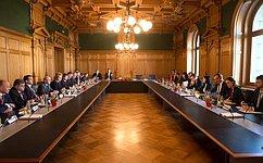 Председатель Совета Федерации В.Матвиенко провела встречу сПредседателем Совета кантонов Швейцарской Конфедерации Р.Контом