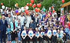 Н.Болтенко выступила наторжественном открытии акции «Праздник детства» вНовосибирском зоопарке