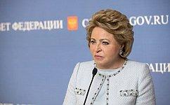 В.Матвиенко: Бюджет на2017год гарантирует выполнение всех социальных обязательств перед населением