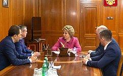 В.Матвиенко иВ.Лимаренко обсудили вопросы социально-экономического развития Сахалинской области