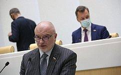А. Клишас представил информацию освоей работе вкачестве представителя палаты вГенеральной прокуратуре иКонституционном Суде