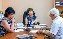 Е. Алтабаева провела личный приём севастопольцев