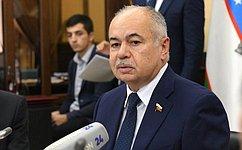 И.Умаханов: Взаимный товарооборот России иУзбекистана значительно увеличился иимеет потенциал для дальнейшего роста