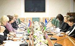 Е. Лахова провела встречу сделегацией Генерального директората СЕ повопросам демократии воглаве сМ.Руотанен