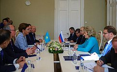 Председатель СФ В.Матвиенко иПредседатель Сената Казахстана Д.Назарбаева обсудили вопросы двустороннего сотрудничества