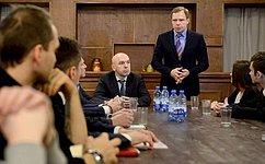 А. Кутепов провел встречу смолодыми активистами Калининского района Санкт-Петербурга