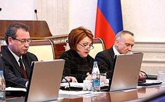 Н. Болтенко выступила сотчетом освоей работе вСовете Федерации назаседании правительства Новосибирской области