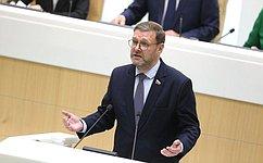 К. Косачев: Международные наблюдатели отметили, что выборы вРоссии были честными, прозрачными, демократичными исвободными