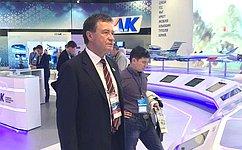 С.Рябухин посетил аэрокосмическую выставку Международного авиационно-космического салона МАКС-2017