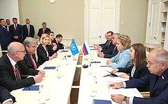 Состоялась встреча Председателя Совета Федерации В.Матвиенко сГенеральным секретарем ООН А.Гутерришем