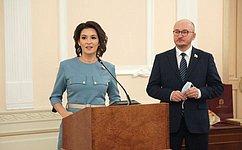 М. Павлова иО. Цепкин приняли участие вцеремонии награждения детей-героев вЧелябинской области