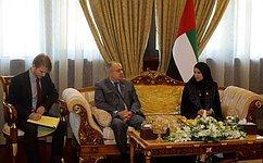 И. Умаханов: Необходимо активизировать сотрудничество профильных комитетов СФ иФедерального национального совета ОАЭ