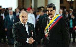 И. Умаханов принял участие винаугурации Президента Венесуэлы