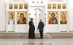 М. Афанасов посетил храм Святого великомученика ицелителя Пантелеймона, торжественное открытие которого состоится сегодня
