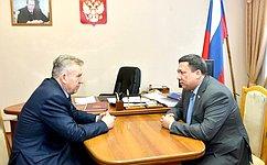 В. Полетаев встретился спредставителями органов власти Республики Алтай