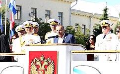 В. Куликов принял участие вритуале приема военной присяги 266 будущих офицеров ВМФ Российской Федерации