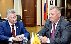 В. Николаев встретился сруководством Государственного Совета Чувашской Республики