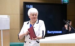 О. Тимофеева: Работа сенаторов нацелена наповышение качества жизни врегионах
