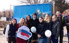 Т. Лебедева посетила фестиваль «Крымская весна» вВолгограде