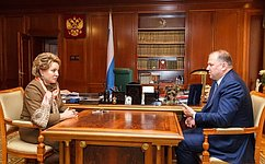 Спикер СФ игубернатор Калининградской области обсудили перспективы социально-экономического развития