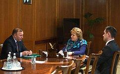Председатель СФ иврио Главы Адыгеи провели рабочую встречу