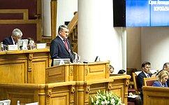 Ю.Воробьев открыл пленарное заседание шестого Международного конгресса «Безопасность надорогах ради безопасности жизни»