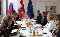 В.Матвиенко провела встречи сглавами палат парламента Австрийской Республики