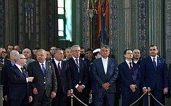 Ю. Воробьев принял участие вцеремонии освящения главного храма Вооруженных Сил РФ