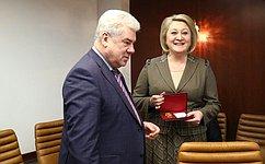 Л. Гумерова награждена медалью Министерства обороны РФ «Памяти героев Отечества»