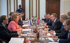 В.Матвиенко: Тесное взаимодействие России иАрмении позволяет вырабатывать новые подходы кмежпарламентскому сотрудничеству