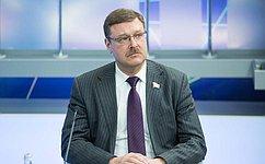 К.Косачев: Необходимо провести анализ примененного вСирии газа