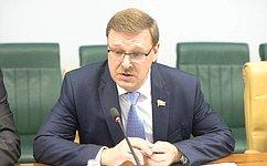 К.Косачев: Санкции ЕС вотношении России недолжны препятствовать межпарламентскому диалогу