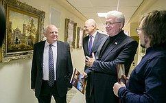 С. Щеблыгин принял участие воткрытии вСовете Федерации выставки картин «Православные храмы мира»