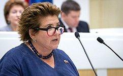 Полномочный представитель Совета Федерации вОбщественной палате РФ Л. Глебова отчиталась оработе за2019год