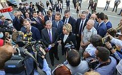 В.Матвиенко: Мы намерены реализовать комплексный план модернизации города Таганрога