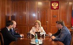 Председатель СФ игубернатор Кузбасса обсудили перспективы социально-экономического развития региона