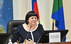 Е. Афанасьева приняла участие вмежрегиональном выездном заседании Клуба женщин- парламентариев