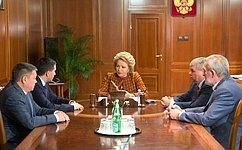 Председатель СФ В.Матвиенко игубернатор Ямала Д.Кобылкин обсудили перспективы социально-экономического развития округа