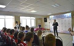 Сергей Леонов пообщался c юными патриотами влагере «Соколья гора»
