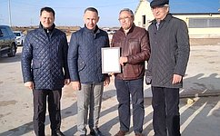О. Алексеев посетил животноводческое хозяйство Марксовского района Саратовской области
