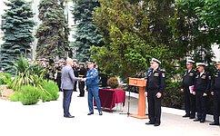 В. Куликов принял участие вцеремонии вручения наград МЧС военнослужащим Черноморского флота