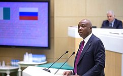России иНигерии нужно укреплять сотрудничество воимя процветания народов двух стран— Председатель нигерийского Сената