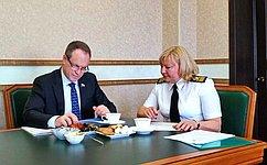 А. Башкин посетил Каспийский институт морского иречного транспорта вАстраханской области