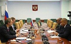 Заместитель Председателя СФ К.Косачев встретился сПослом Мозамбика вРоссииЖ.Катупой