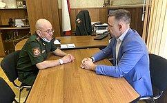 О.Алексеев посетил вСаратове военный госпиталь Министерства обороны РФ