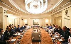 ВСовете Федерации прошло заседание Межпарламентской комиссии посотрудничеству Федерального Собрания России иМилли Меджлиса Азербайджана