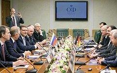 К.Косачев провел встречу сделегацией депутатов Бундестага ФРГ