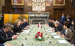 Председатель СФ выступает зарасширение парламентского взаимодействия сЯпонией