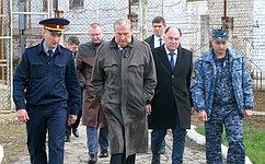 Сенатор А. Александров посетил ИК-2 иИК-3 вКалужской области